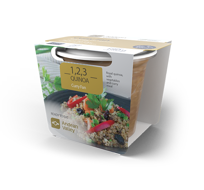 Royal quinoa, with vegetables and curry meal